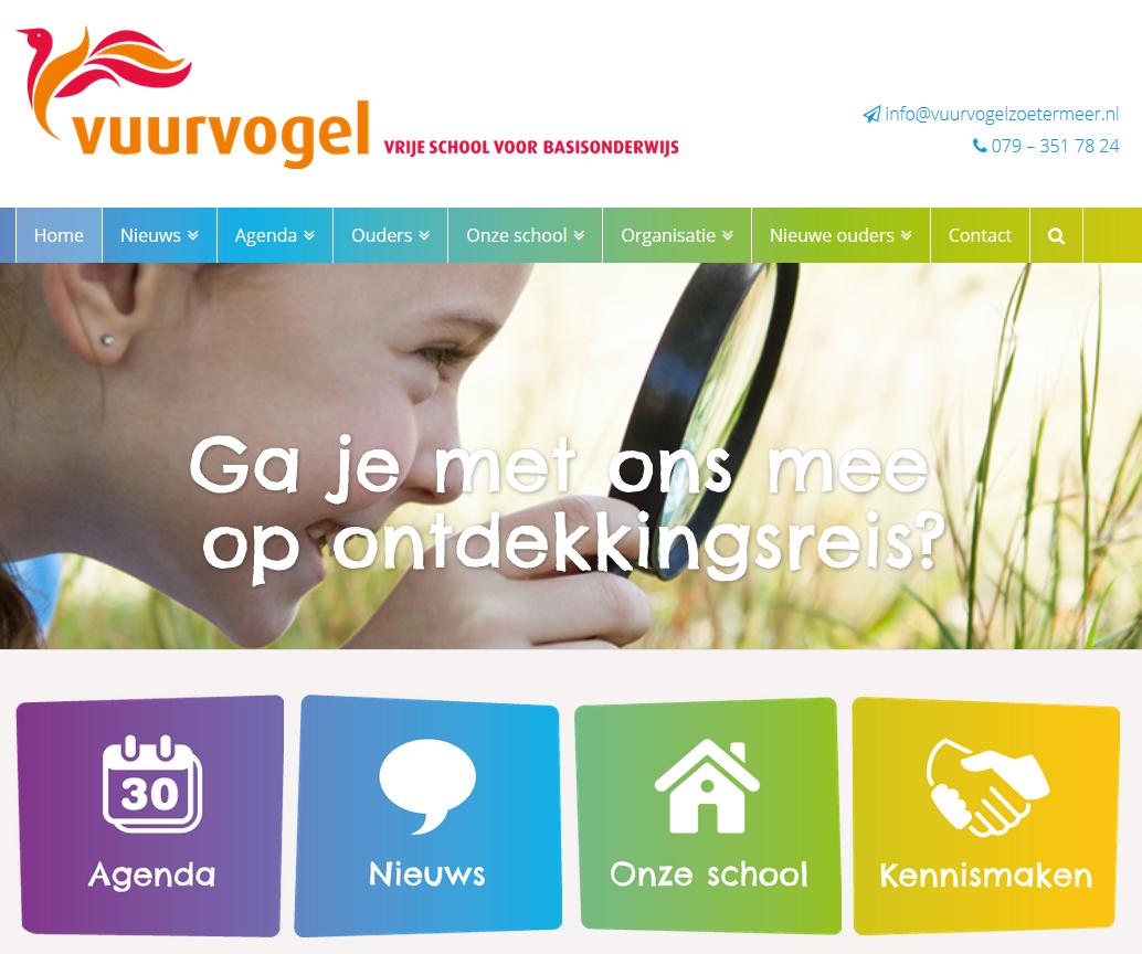 Nieuwe website Vuurvogel